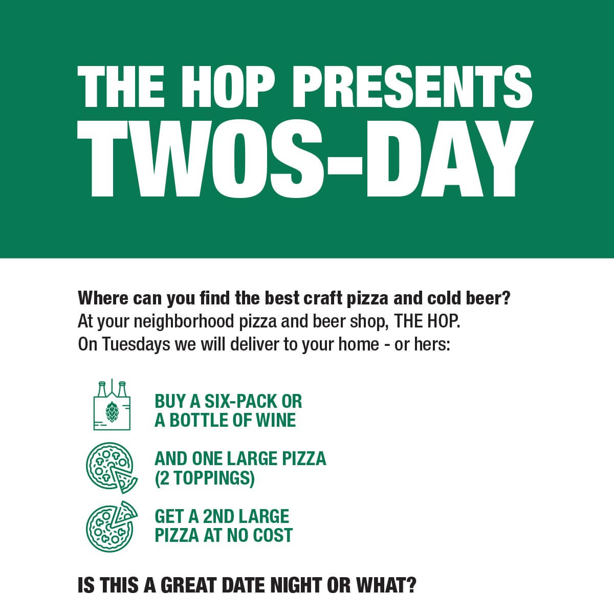 The Hop Tuesday Special